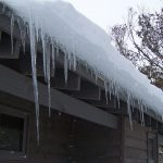 Icicles on roof line