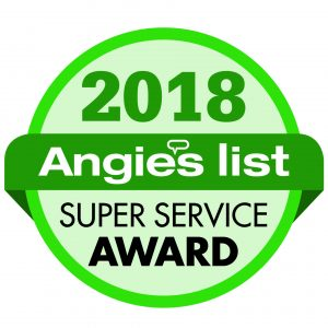 2018 Super Service Award from Angie's List to Signature Exteriors