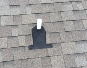 Leak in roof from old vent boot