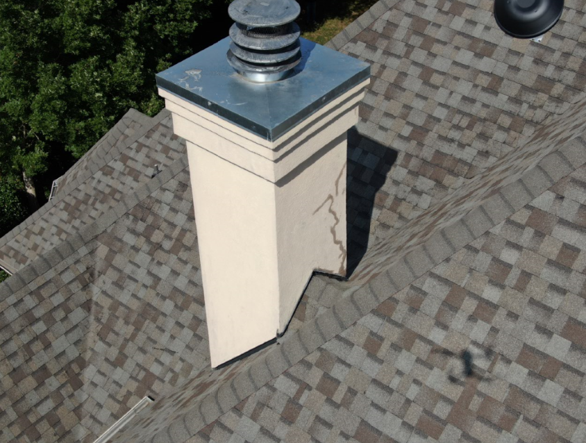 Chimney inspection using drone footage