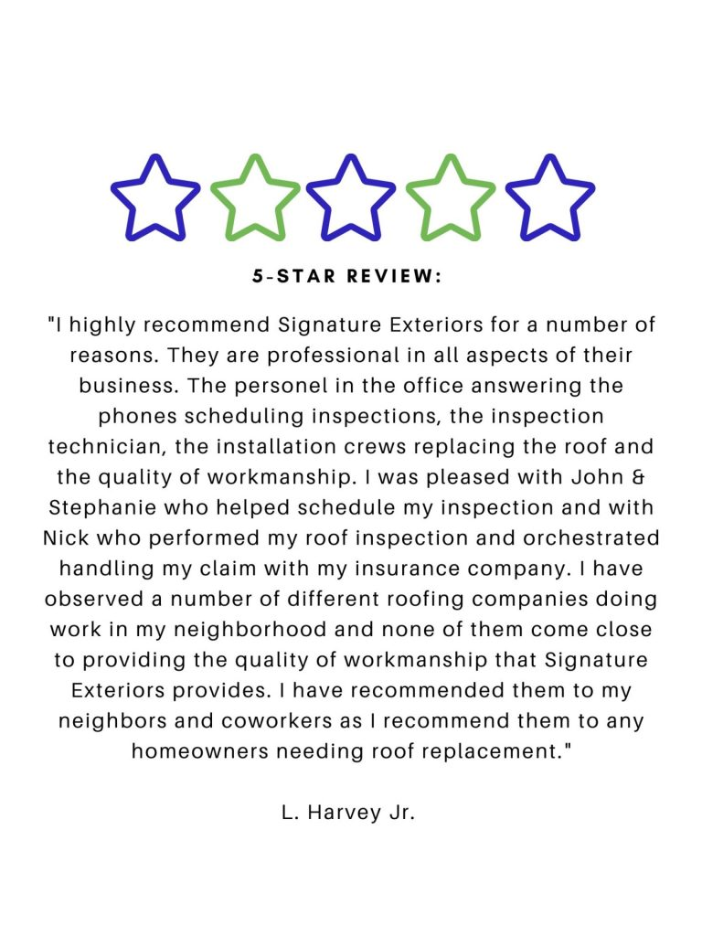 Roofing Contractor 5 Star Review