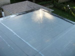 EPDM roofing material in the color black