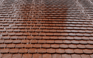 Orange Ceramic Tile Shingle