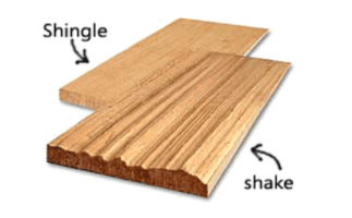 Roof Shake Wooden Shingles