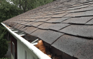 An aged roof that needs to be replaced